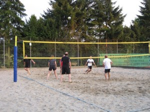 Beachen der Volleyballer 2009