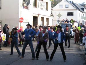 LineDancer im Vallendarer Karnevalszug 2013